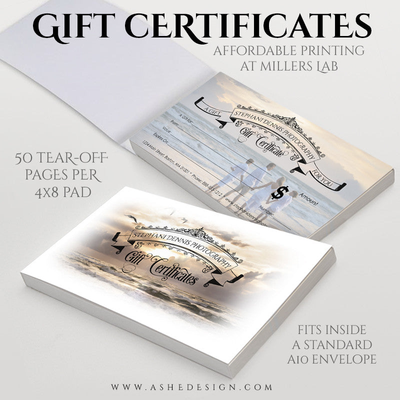 Gift Certificate Booklet 4x8 | Simply Stated