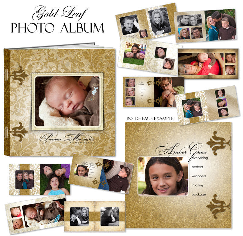 Ashe Design | Photo Book Template 10x10 | GoldLeaf