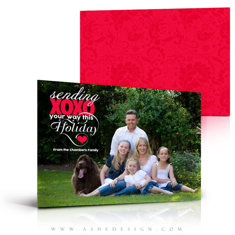 Holiday Photography Card Template - Sending Hugs