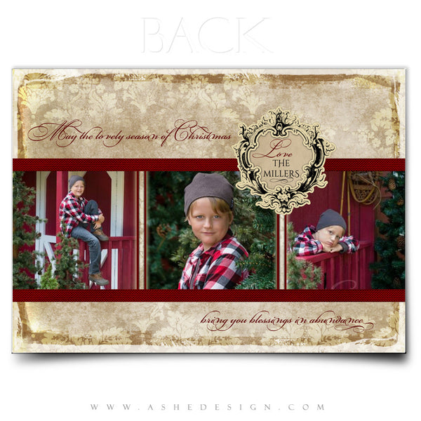5x7 Flat Christmas Card - Vintage Holiday