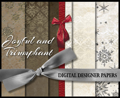 Digital Designer Paper Set - Joyful & Triumphant