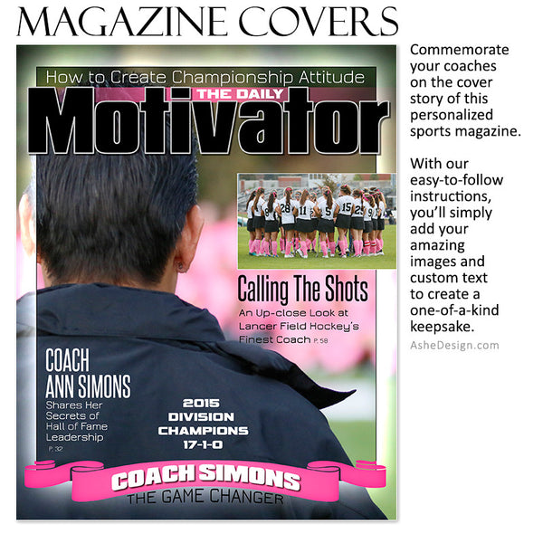 Sports Magazine Cover 8x10 | Daily Motivator fh