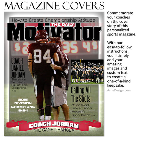 Sports Magazine Cover 8x10 | Daily Motivator fb