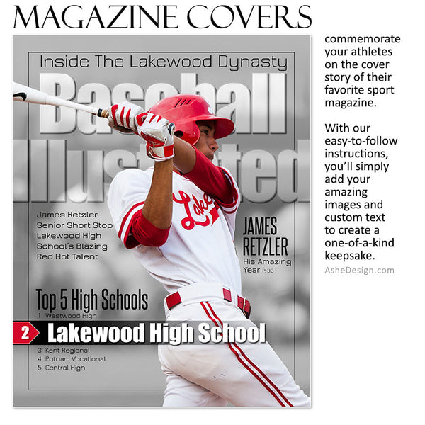 Sports Magazine Cover 8x10 | Illustrated bb