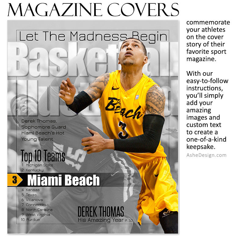 Sports Magazine Cover 8x10 | Illustrated bkb