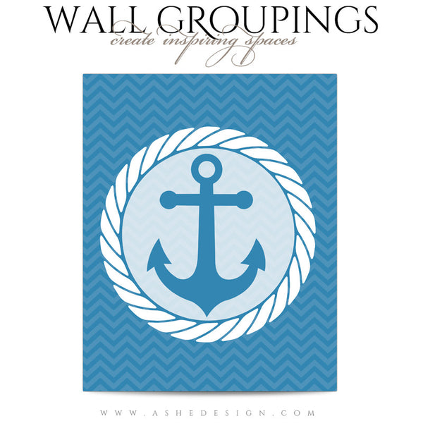 Wall Groupings Children Photography Templates | Nautical Theme anchor