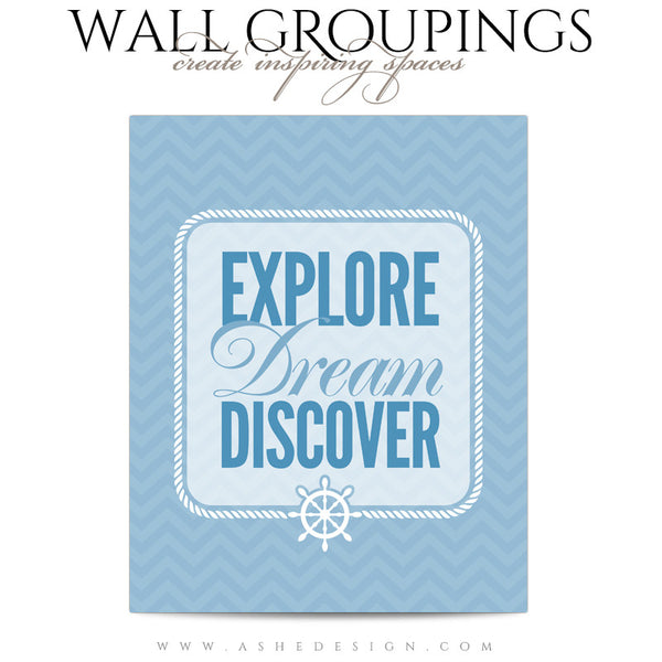 Wall Groupings Children Photography Templates | Nautical Theme word art