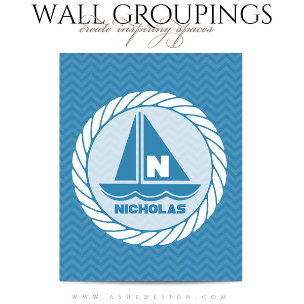 Wall Groupings Children Photography Templates | Nautical Theme sailboat