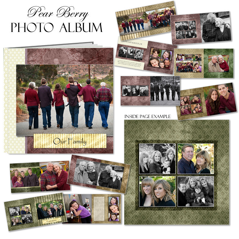 Photo Book 12x12 Templates - Pear Berry