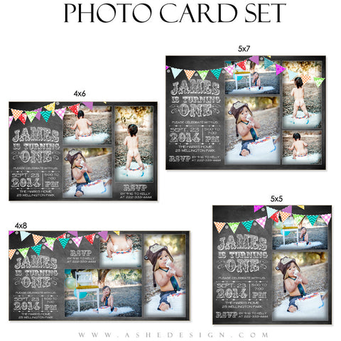 Birthday Photo Cards | Chalkboard Banner