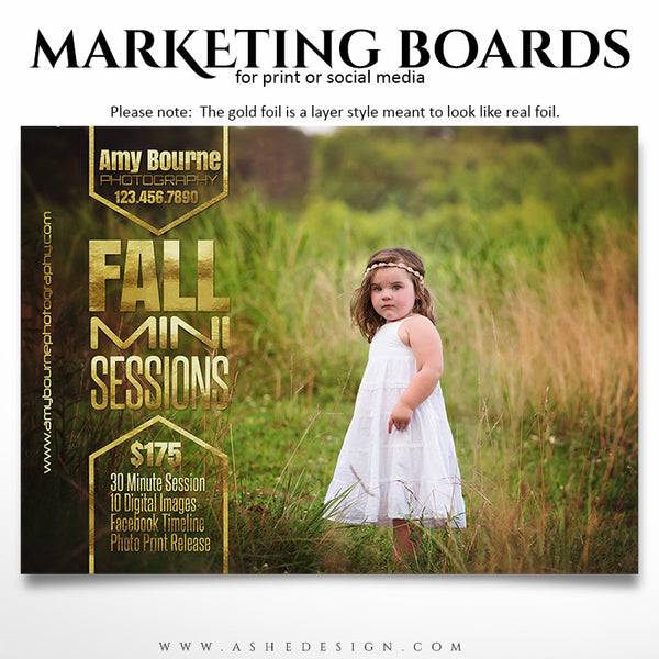 Marketing Board 5x7 Flat | Fall Foil example