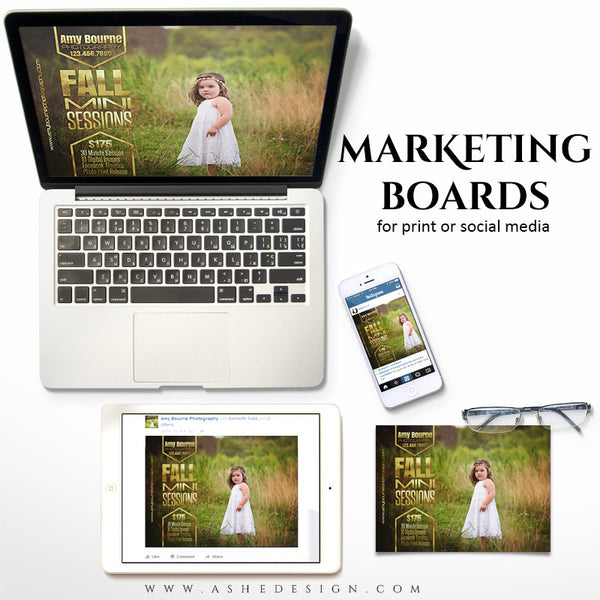 Marketing Board 5x7 Flat | Fall Foil