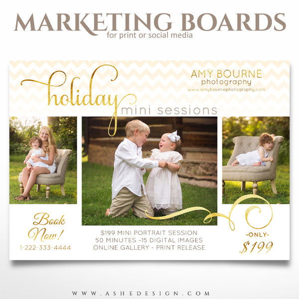 Marketing Board 5x7 Flat | Holiday Chevron example