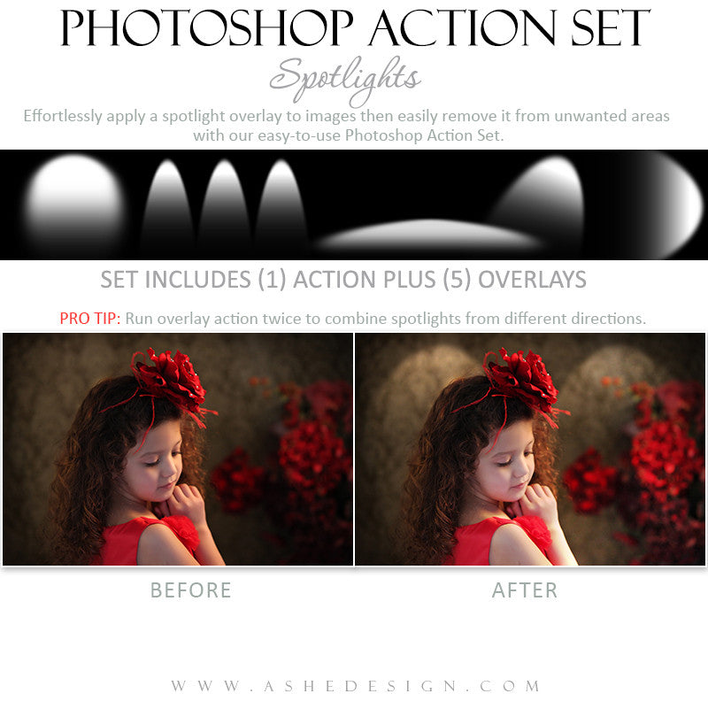 Photoshop Action - Overlays | Spotlights1