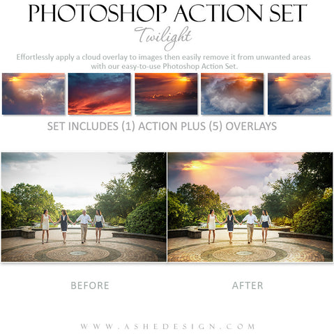 Photoshop Action | Cloud Overlays - Twilight