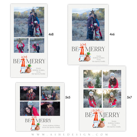 Christmas Photo Card Set | Be Very Merry