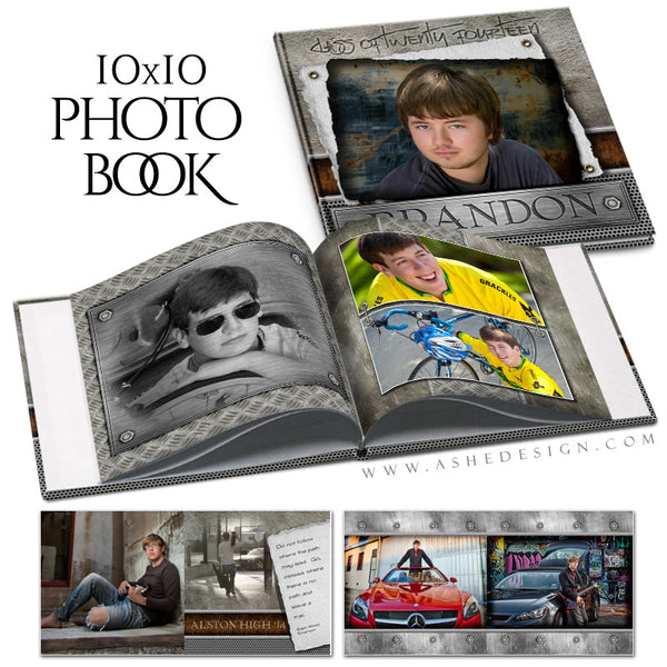 Scrap Metal Senior Photo Book Tempalte