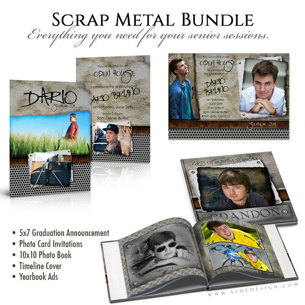 Scrap Metal Senor Photography Template Bundle