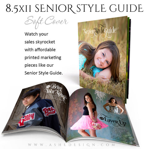 8.5x11 Soft Cover Event Book | Senior Style Guide open book