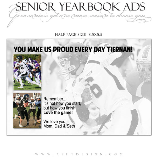 Senior Yearbook Ad Half Page Grande on valentines day cards twitter