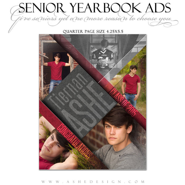 Yearbook Ad qtr | Angled