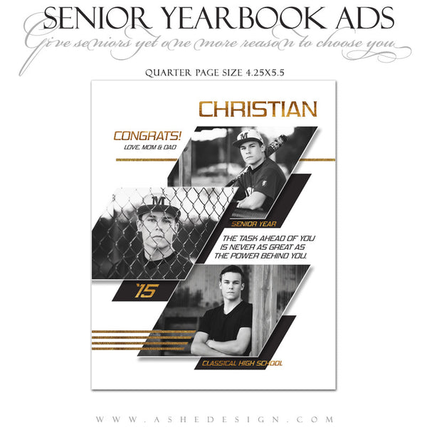 Yearbook Ad qtr pg | Geometric
