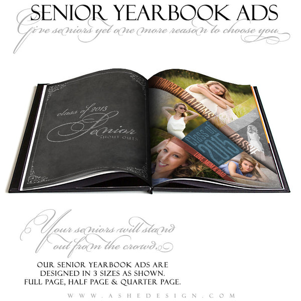 Yearbook Ad Set | Angled