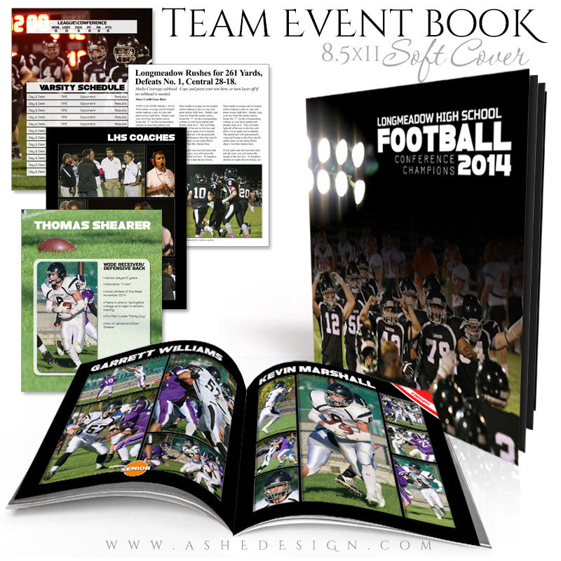 8.5x11 Soft Cover Event Book | Simply Sports Yearbook