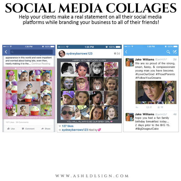 Social Media Collage Set | Simply Squared