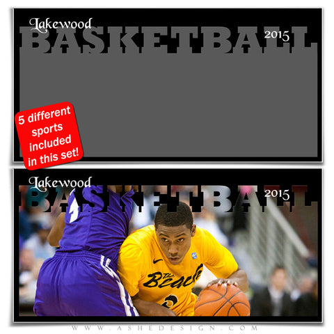 Sports Photo Collage Set 10x20 | Fall & Winter Sports basketball