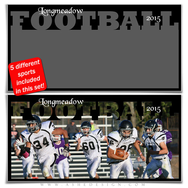 Sports Photo Collage Set 10x20 | Fall & Winter Sports football