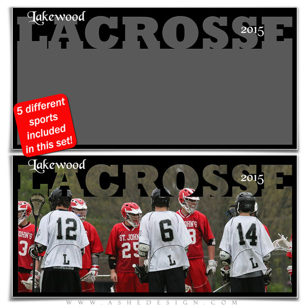 Sports Photo Collage Set 10x20 | Spring Sports lacrosse