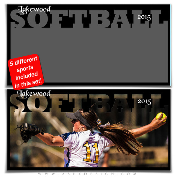 Sports Photo Collage Set 10x20 | Spring Sports softball