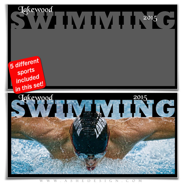 Sports Photo Collage Set 10x20 | Fall & Winter Sports swimming