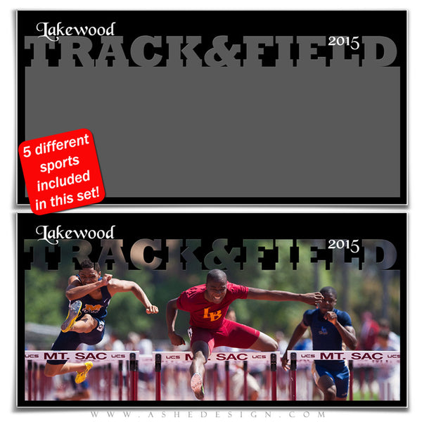 Sports Photo Collage Set 10x20 | Spring Sports track & field