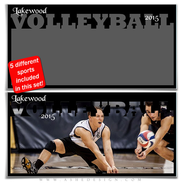 Sports Photo Collage Set 10x20 | Spring Sports volleyball