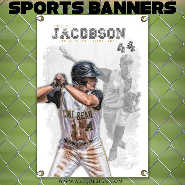 Amped Sports Banner 24x36 Game Day Ashedesign
