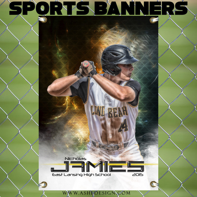 Amped Sports Banner 24x36 - Winning Streak Baseball/Softball