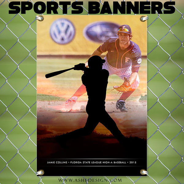 Amped Sports Banner | Sunset Silhouette bb
