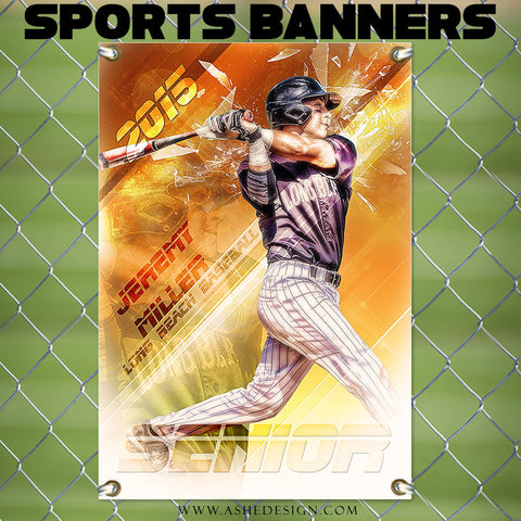 Ashe Design | Amped Sports Banner 24x36 | Blade Runner bb
