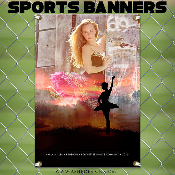 Amped Sports Banner | Sunset Silhouette dance