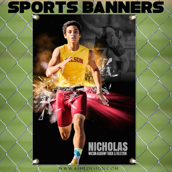 Ashe Design | Photoshop Templates | 2x3 Sports Banner | Track
