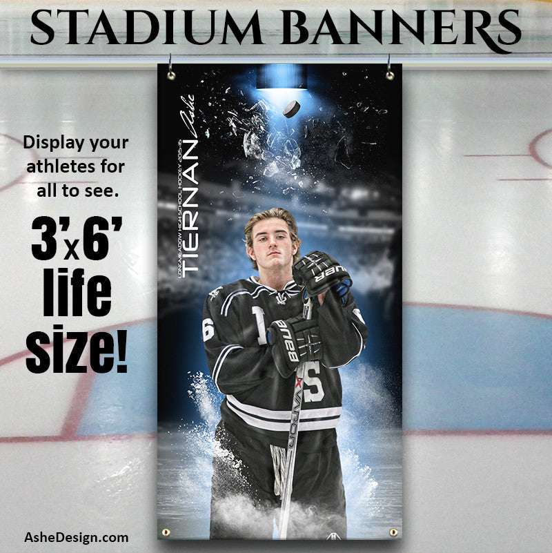 Ashe Design | 3'x6' Amped Stadium Banner | Full Steam Hockey