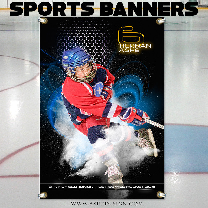 Ashe Design | Photoshop Templates | 2x3 Sports Banner | Hockey