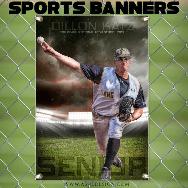 Amped Sports Banner 24x36 | Stormy Arena bb2
