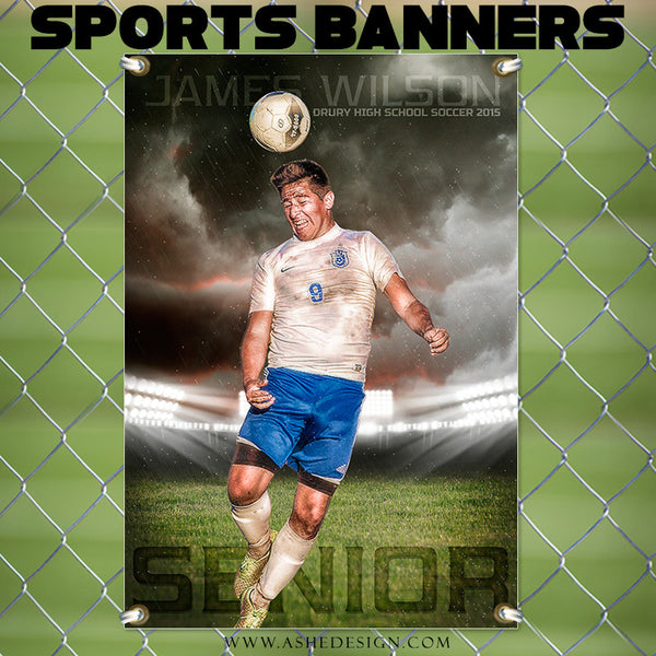 Amped Sports Banner 24x36 | Stormy Arena soccer