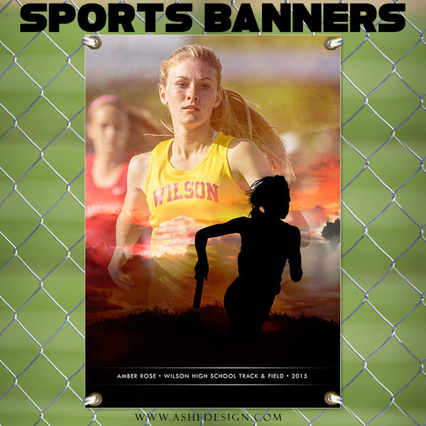 Amped Sports Banner | Sunset Silhouette track