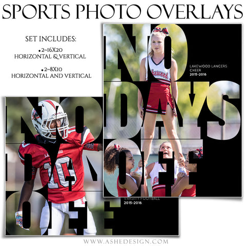 Photoshop Sports Photo Overlays | No Days Off