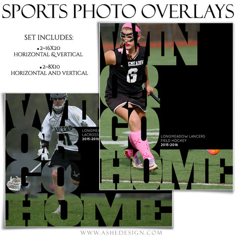 Photoshop Sports Photo Overlays | Win Or Go Home
