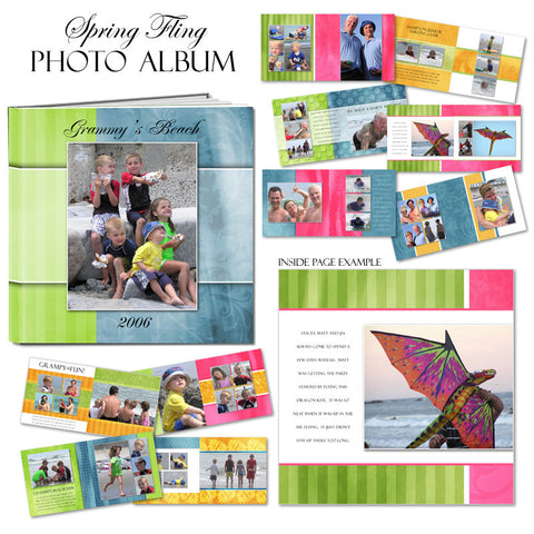 Ashe Design | Photo Book Template 12x12 | Spring Fling